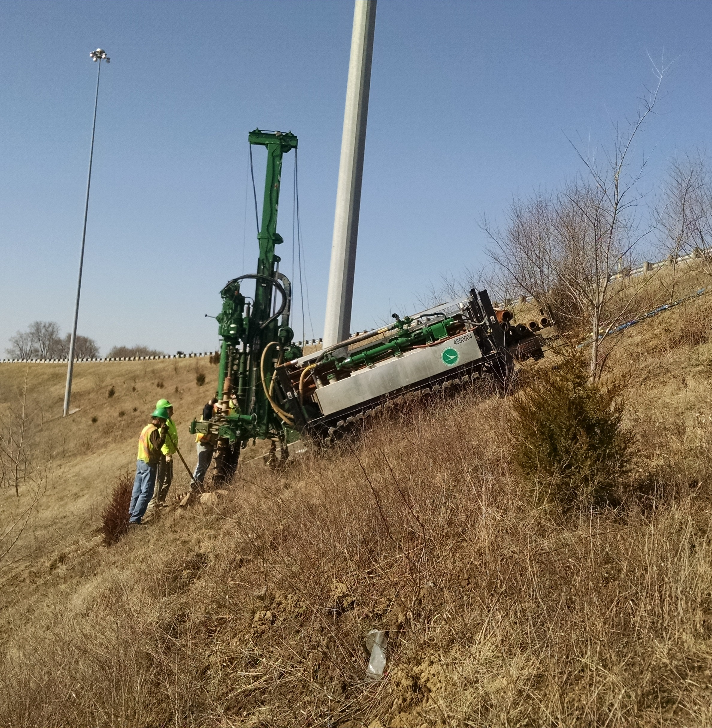 Acker XLS Rig Drilling on Slope