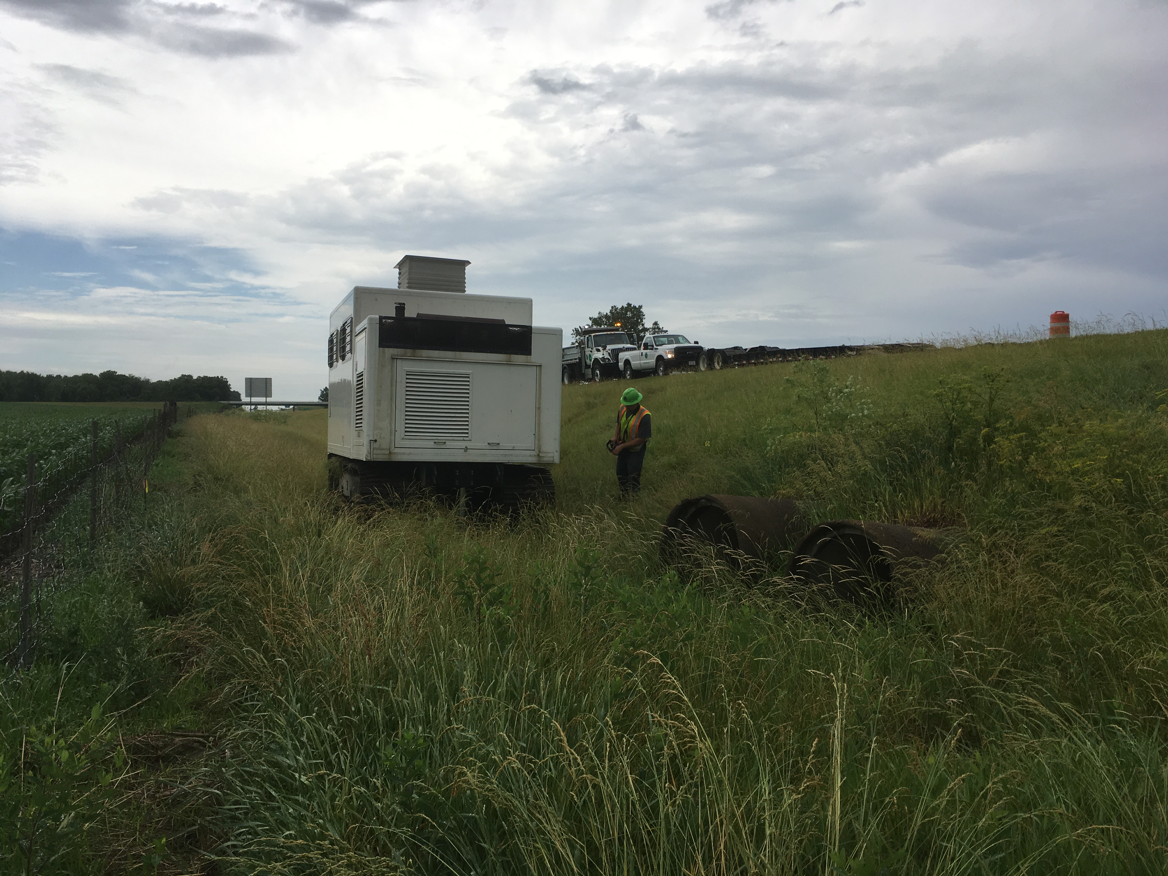 CPT Rig tracking off road for Culvert Exploration