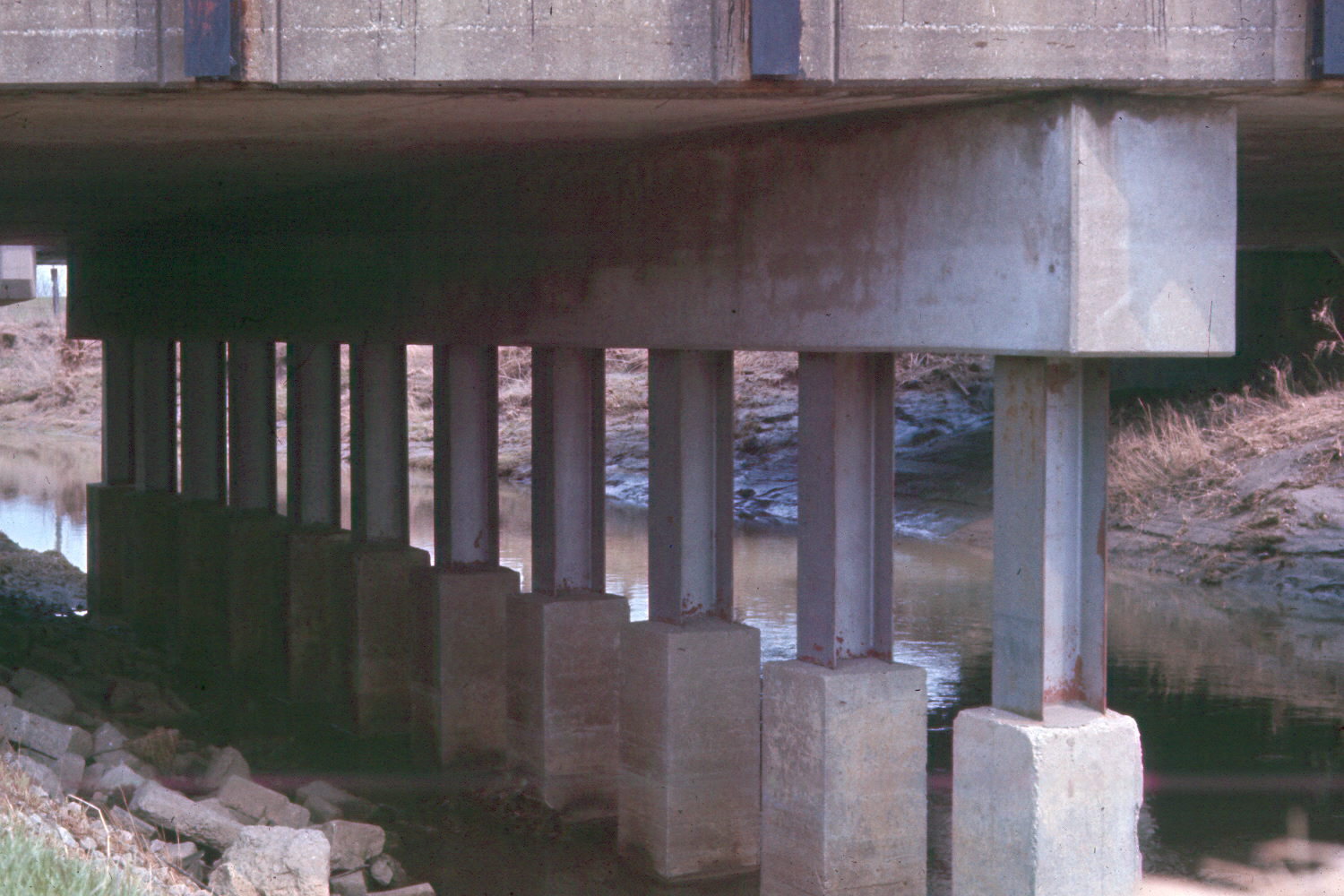 Capped Pile Type Piers Corrosion Of Steel Piling At Water