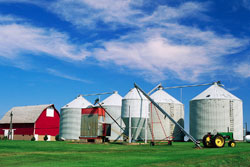 Picture of grain silos