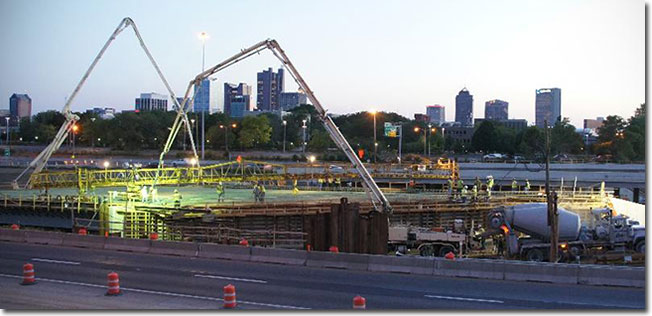 I-670 Construction, Columbus, Ohio