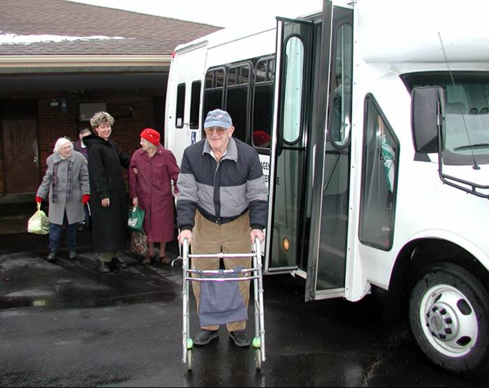 Elderly individuals and accessible light transit vehicle