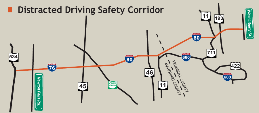 Distracted Driving Safety Corridor Launched