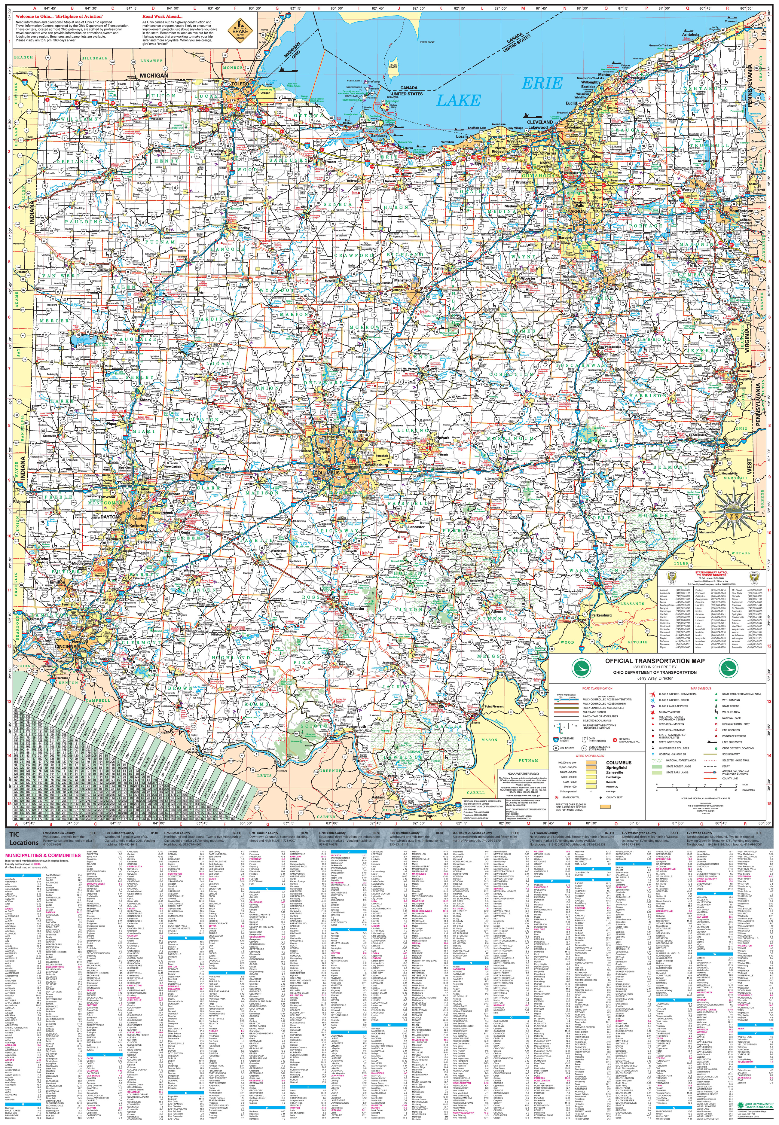 Pages Ohio Transportation Map Archive - Ohio road map