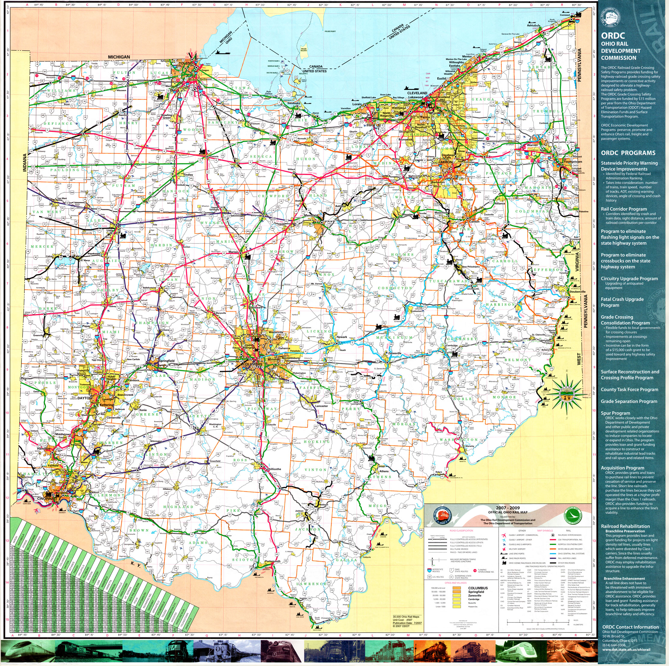 Rail Map Images All Pictures - Us map ohio