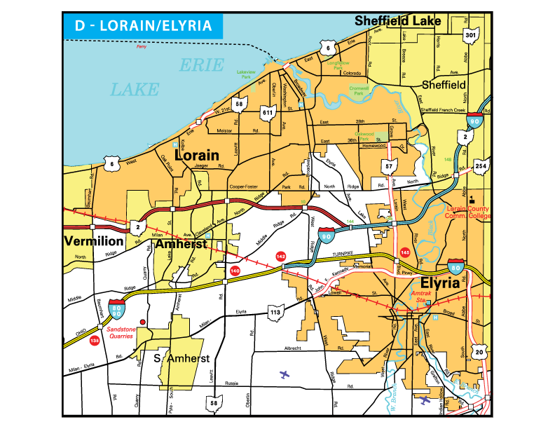 Pages Ohio Transportation Map