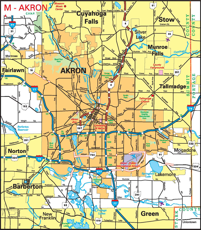 Cities Public - Map of ohio cities
