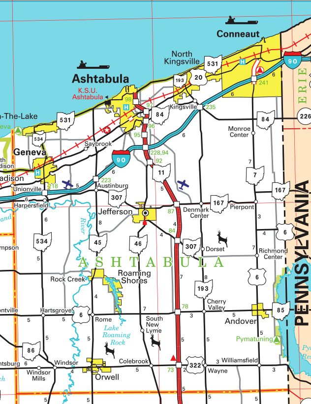 Ashtabula County Map