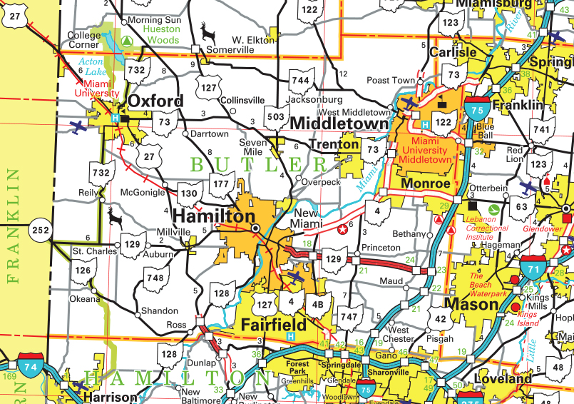 Browsing Through Butler County Maps Pictures More - County maps of ohio