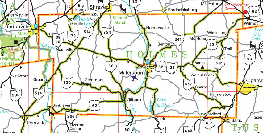 map of ohio counties. County Map - Ohio Department