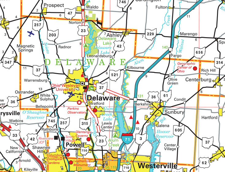 Delaware Ohio Map Pages   County Map Delaware Ohio Map