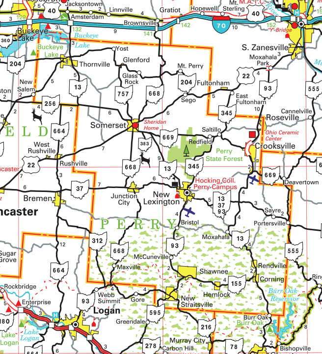 Ohio County Maps Pages   County Map